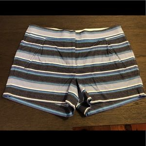 J. Crew Blue Striped Shorts
